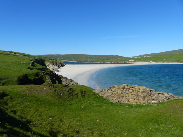 View from St. Ninian's Isle to the tombolo