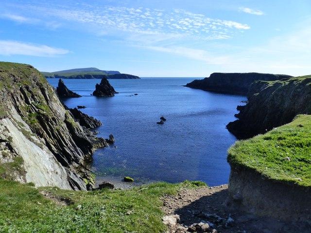 Butter Geo and coastal scenery, St. Ninian's Isle, Shetland