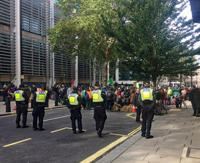 Protest, Marsham Street