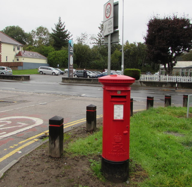 Queen Elizabeth II pillarbox in Hollybush Estate, Cardiff