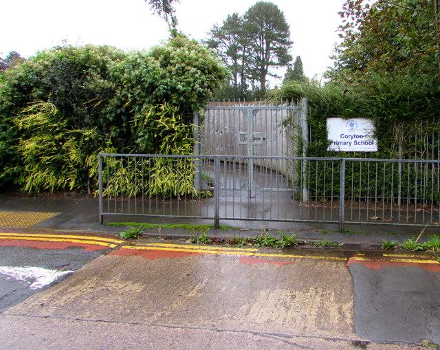 Coryton Primary School entrance gates, Cardiff