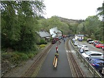 SH6441 : Freight train pulling in to Tan-y-Bwlch by Gerald England