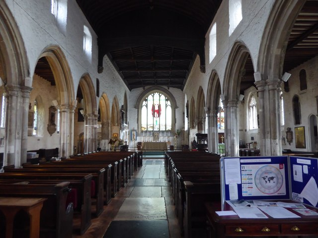 Interior of St Dunstan's Church, Stepney