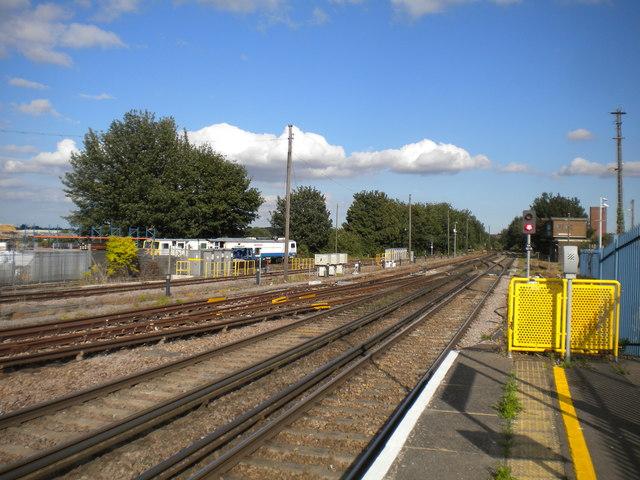 Railway east of Sittingbourne station