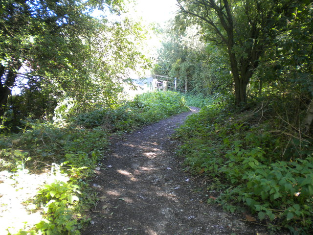 Path to Heage Lane from Mickleover Trail north of Etwall