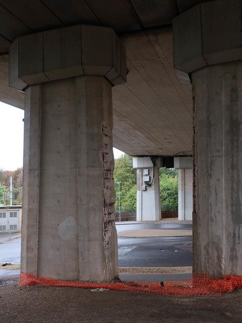 Under Huntingdon Viaduct
