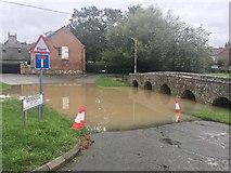 SK6514 : Rearsby Ford in Flood by John Walton