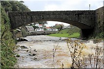 SS7249 : Lynmouth: the East Lyn River & A39 bridge by Martin Tester