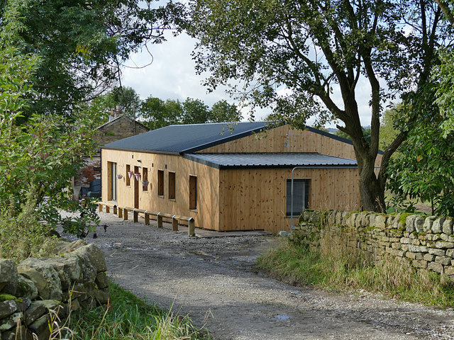 New timber-clad building at Norr Fold Farm