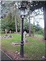 SO5949 : Lamp at St. Luke's Church (Ullingswick) by Fabian Musto