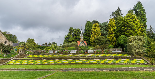 Floral display, Formal Garden, Cragside
