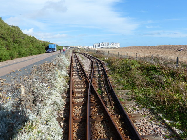 Railway passing place, Volks Electric Railway, Brighton
