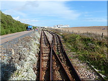 TQ3203 : Railway passing place, Volks Electric Railway, Brighton by Ruth Sharville