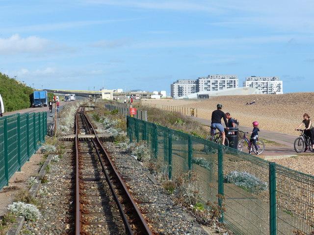 Pedestrian crossing, Volks Electric Railway, Brighton