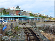 TQ3203 : Level crossing, Volks Electric Railway, Brighton by Ruth Sharville