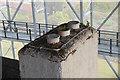 NS3083 : Chimney pots, Hill House by Jim Barton