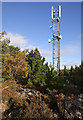 NH5342 : Mobile phone mast, Phoineas Hill by Craig Wallace