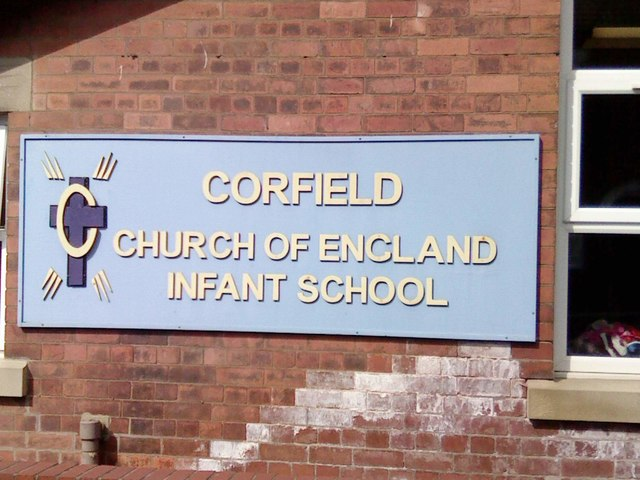 Corfield Church of England Infant School Sign