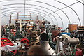 SN2949 : Internal Fire Museum of Power - polytunnel storage area by Chris Allen