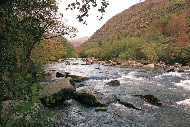 Afon Glaslyn south of Beddgelert