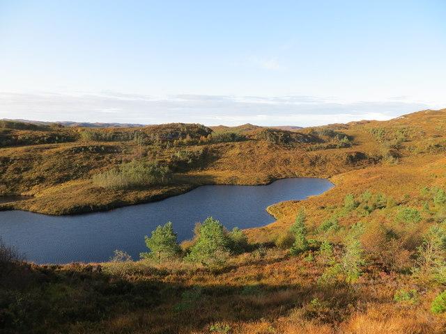 Western end of Lochan a' Mhanaich in Assynt
