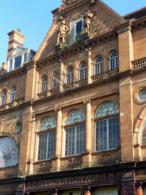 Detail of former theatre, Union Street, Plymouth