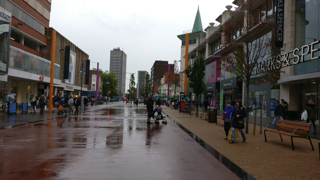 Humberstone Gate in Leicester city centre