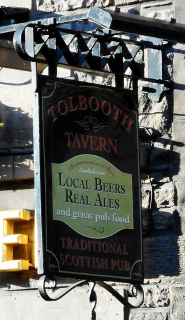 Sign for Tolbooth Tavern