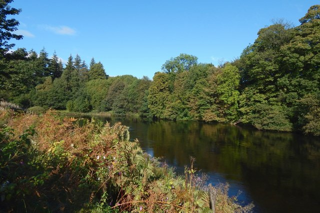 The River Leven from Dalquhurn Point
