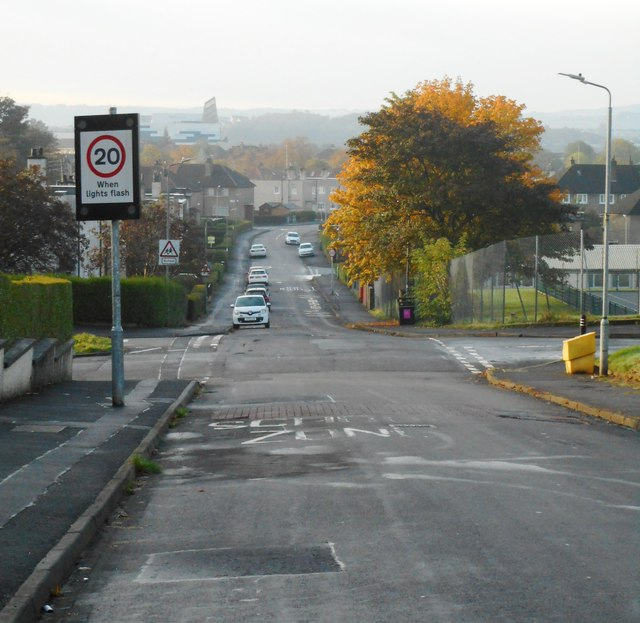 Looking down Langton Road