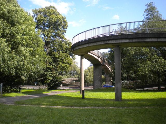 Footbridge across the A38, Markeaton Park