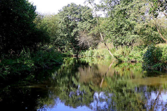 River Churnet north-east of Consall in Staffordshire