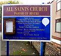 SJ2863 : All Saints Church information board, Buckley by Jaggery
