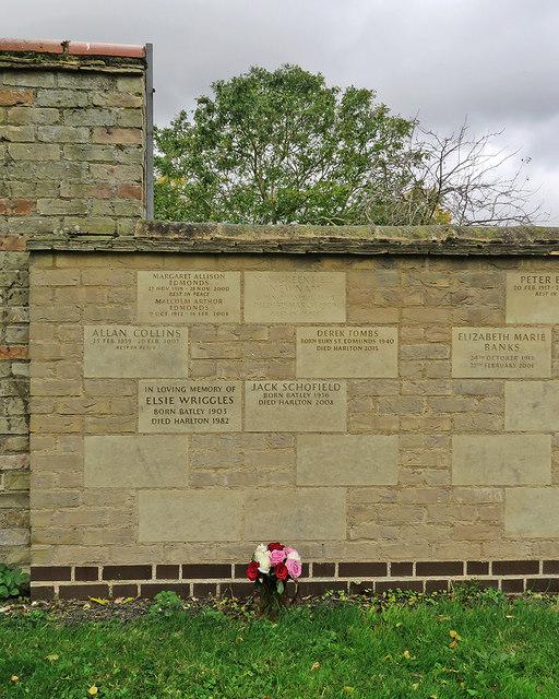 Harlton: remembered on the churchyard wall