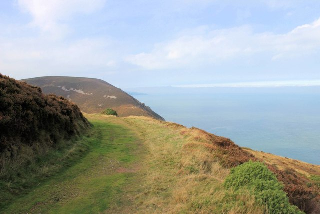 East Cleave headland from across the Heddon valley