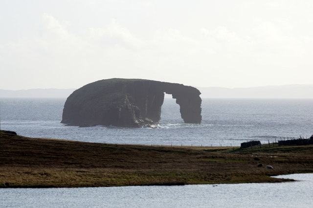 Dore Holm from West Loch, Eshaness