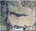 SD2878 : Ordnance Survey Cut Mark by Adrian Dust