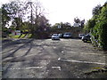 TL9033 : Bures Railway Station car park by Adrian Cable