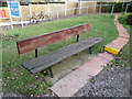 TL9033 : Seats at Bures Railway Station by Adrian Cable
