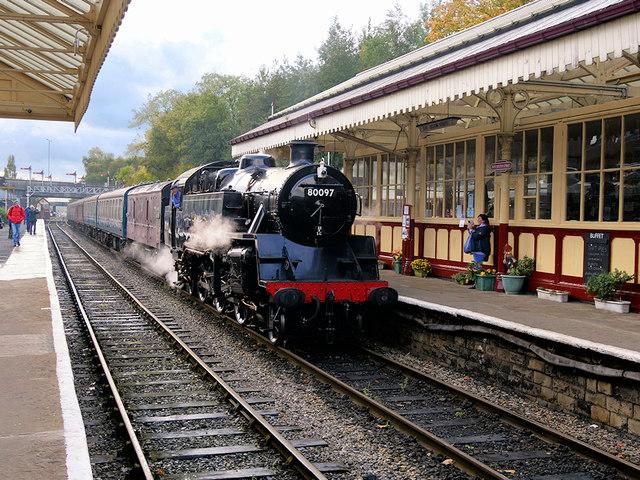 Steam Train at Bolton Street Station