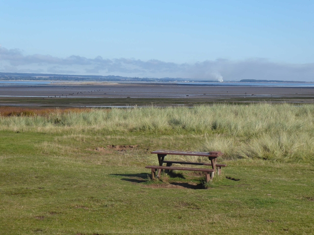 Picnic table by the Firth of Tay