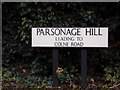 TL9033 : Parsonage Hill sign by Geographer