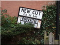 TL9033 : New Cut sign by Geographer