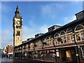 NZ2814 : Darlington clock tower and market hall by Graham Hogg