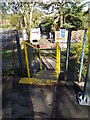 TL9033 : Steps at Bures Railway Station by Adrian Cable
