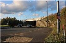 TQ6570 : Wrotham Road joining Watling Street by David Howard