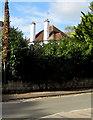 SO4958 : White chimneystacks in Leominster by Jaggery
