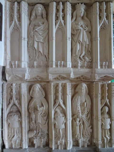 Detail on Sir Richard Croft's tomb