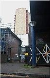 TQ3484 : By the railway bridge on Richmond Road, Dalston by David Howard