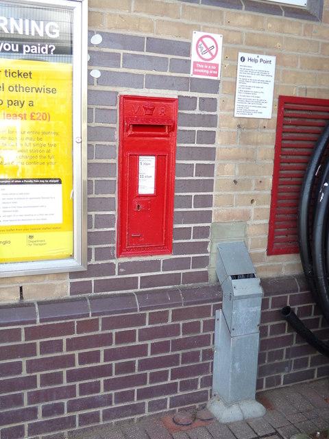 Railway Station Victorian Postbox